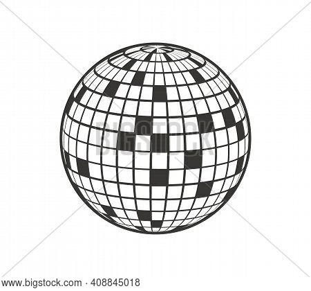 Disco Ball Vector Icon. Disco Ball Vector Icon. Disco Ball Vector Icon