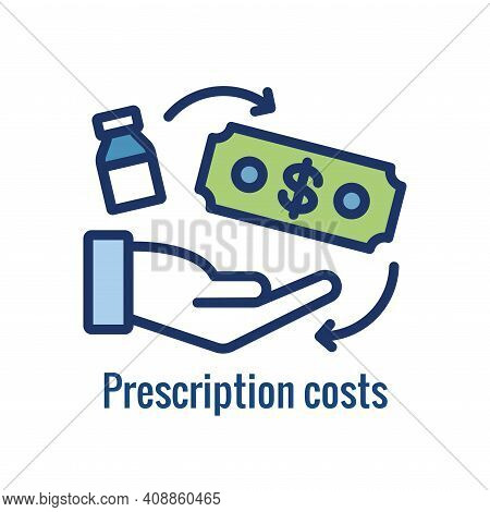 Pharmacy Icon W An Aspect Of The Pharma Business - Outline Icon