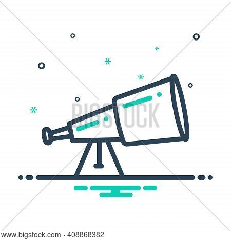 Mix Icon For Telescope  Binoculars Spyglass Object
