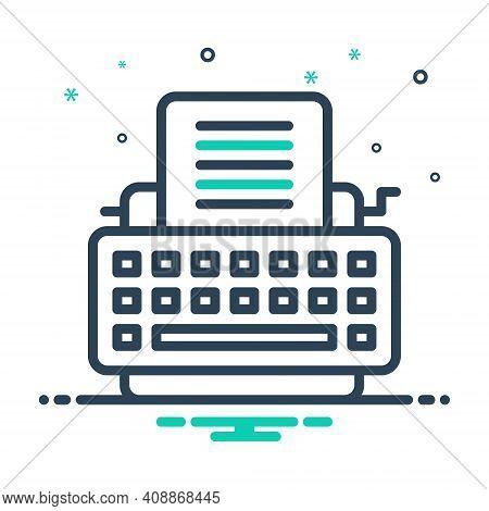 Mix Icon For Typewriter Keys Type Writer
