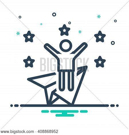 Mix Icon For Ambitious Joyful Wishful Appetent Happy