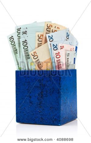 Dark Blue Box With Euros