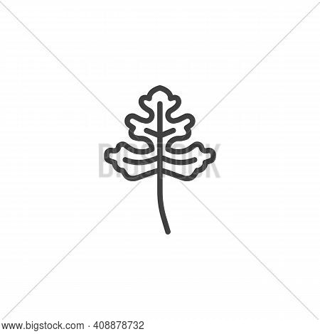 Cilantro Herb Line Icon. Linear Style Sign For Mobile Concept And Web Design. Coriander Leaf Outline
