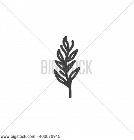 Tarragon Herb Line Icon. Linear Style Sign For Mobile Concept And Web Design. Tarragon Branch Outlin