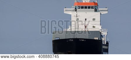 General Cargo Ship - Freighter Entering The Port