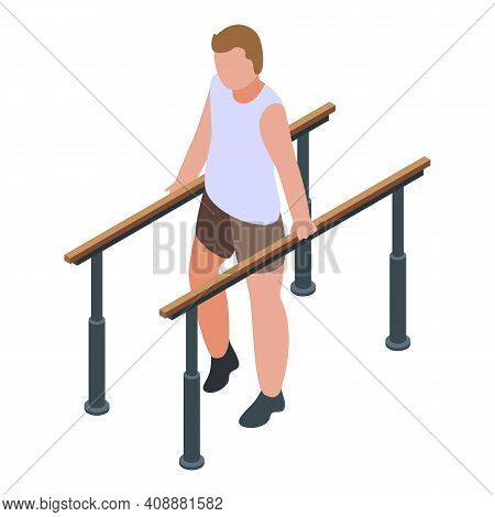 Physical Therapist Walking Icon. Isometric Of Physical Therapist Walking Vector Icon For Web Design