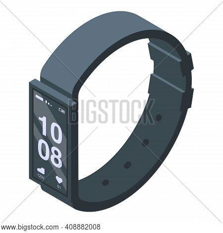 Fitness Band Icon. Isometric Of Fitness Band Vector Icon For Web Design Isolated On White Background