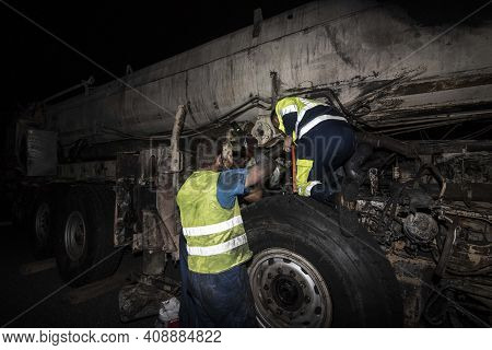 Burnt Out Vehicle After A Vehicle Fire