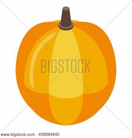 Ripe Pumpkin Icon. Isometric Of Ripe Pumpkin Vector Icon For Web Design Isolated On White Background