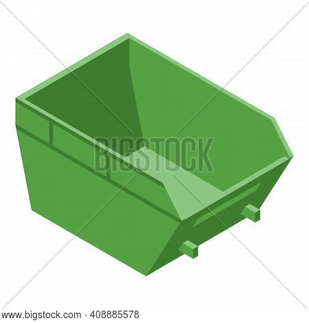 Dumpster Icon. Isometric Of Dumpster Vector Icon For Web Design Isolated On White Background