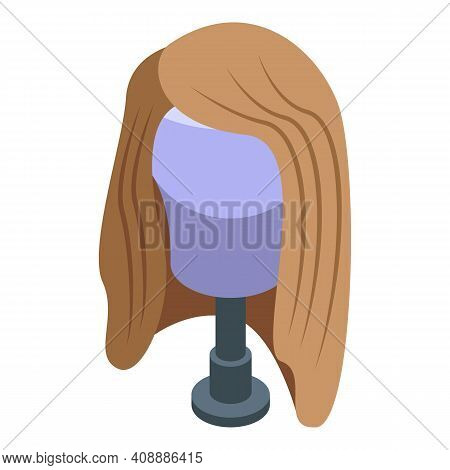 Stylish Wig Icon. Isometric Of Stylish Wig Vector Icon For Web Design Isolated On White Background