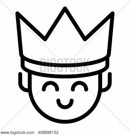 King Icon. Outline King Vector Icon For Web Design Isolated On White Background