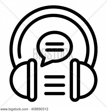 Lesson Audio Experience Icon. Outline Lesson Audio Experience Vector Icon For Web Design Isolated On