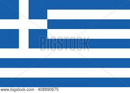 National Flag Of The Country Of Greece. Greek Flag. Greek State Symbol. Labor Day. Independence Day