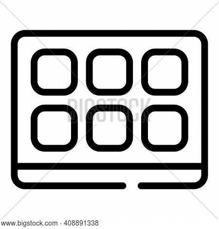 Smart Interactive Tv Icon. Outline Smart Interactive Tv Vector Icon For Web Design Isolated On White