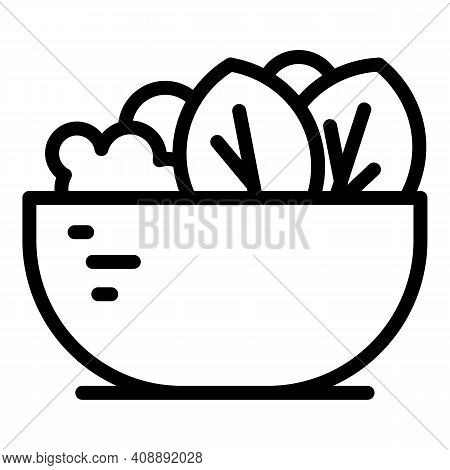 Fruit Salad Calorie Icon. Outline Fruit Salad Calorie Vector Icon For Web Design Isolated On White B