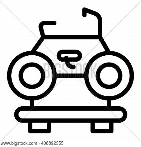 Car Roof Bike Icon. Outline Car Roof Bike Vector Icon For Web Design Isolated On White Background