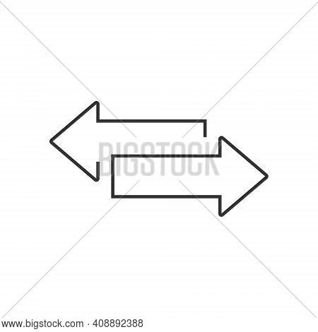 Two Opposite Arrows Icon. Transfer Sign For Your Design