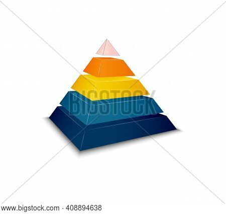 Assembled Pyramid For Presentation Realistic Vector Illustration