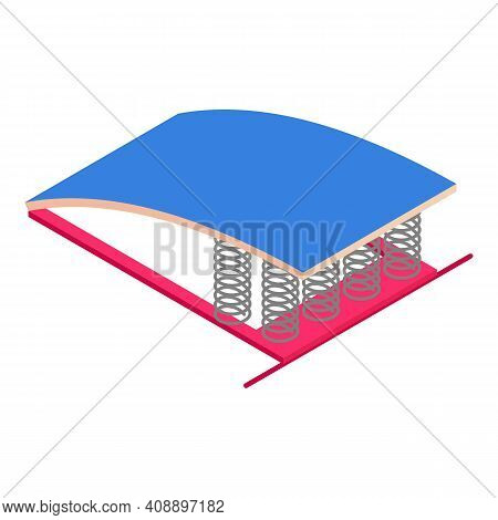 Gymnastics Spring Board Icon. Isometric Of Gymnastics Spring Board Vector Icon For Web Design Isolat