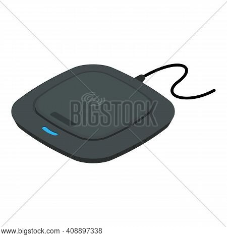 Device Wireless Charger Icon. Isometric Of Device Wireless Charger Vector Icon For Web Design Isolat