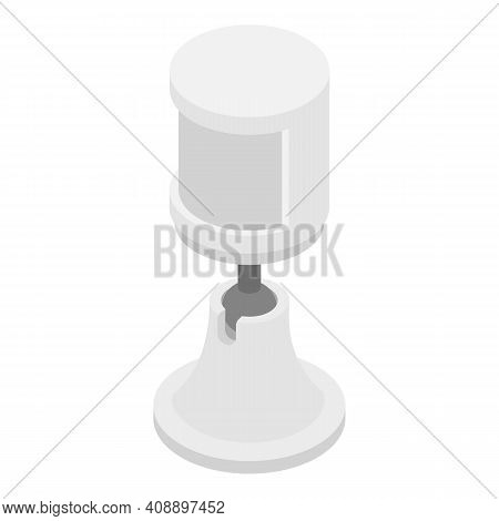 Outdoor Motion Sensor Icon. Isometric Of Outdoor Motion Sensor Vector Icon For Web Design Isolated O