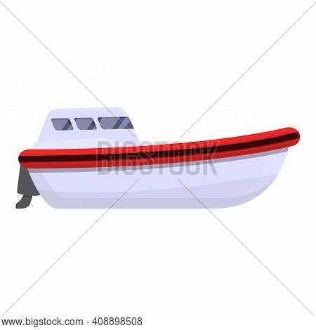 Injury Rescue Boat Icon. Cartoon Of Injury Rescue Boat Vector Icon For Web Design Isolated On White