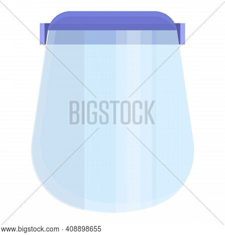 Clean Face Shield Icon. Cartoon Of Clean Face Shield Vector Icon For Web Design Isolated On White Ba