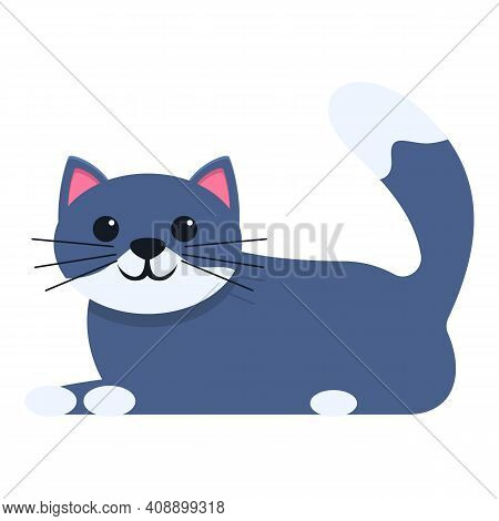 Playful Cat Animal Icon. Cartoon Of Playful Cat Animal Vector Icon For Web Design Isolated On White