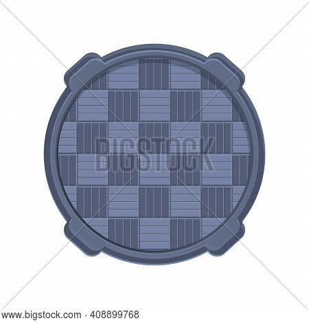 Grate Manhole Icon. Cartoon Of Grate Manhole Vector Icon For Web Design Isolated On White Background