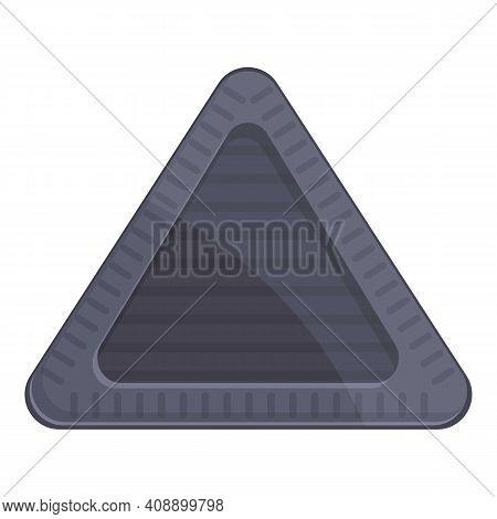 Triangular Manhole Icon. Cartoon Of Triangular Manhole Vector Icon For Web Design Isolated On White