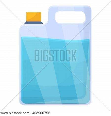 Canister With Water Icon. Cartoon Of Canister With Water Vector Icon For Web Design Isolated On Whit
