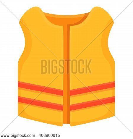 Life Jacket Icon. Cartoon Of Life Jacket Vector Icon For Web Design Isolated On White Background