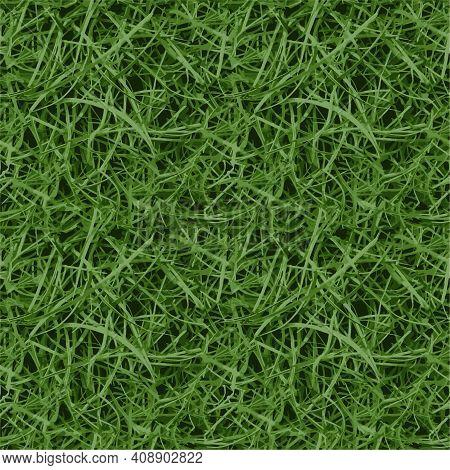 Seamless Green Grass Close-up Vector Background Texture Green Grass