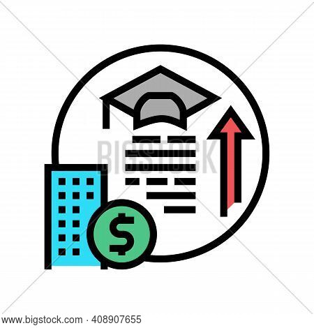 Training And Courses Benefits Color Icon Vector. Training And Courses Benefits Sign. Isolated Symbol