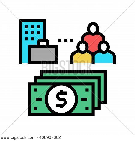 Business And Employees Benefits Color Icon Vector. Business And Employees Benefits Sign. Isolated Sy