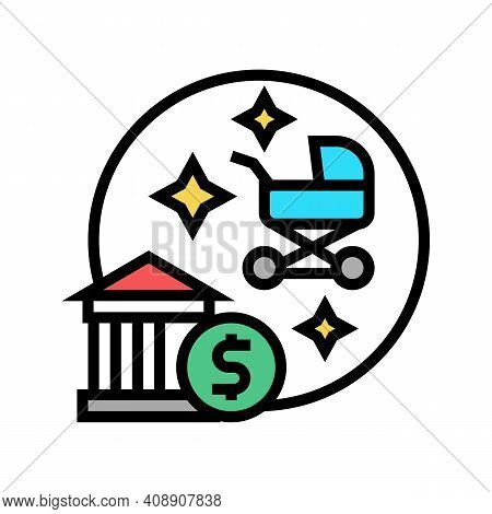 Childbirth Benefits Color Icon Vector. Childbirth Benefits Sign. Isolated Symbol Illustration