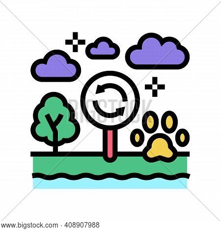 Biotope Ecosystem Color Icon Vector. Biotope Ecosystem Sign. Isolated Symbol Illustration