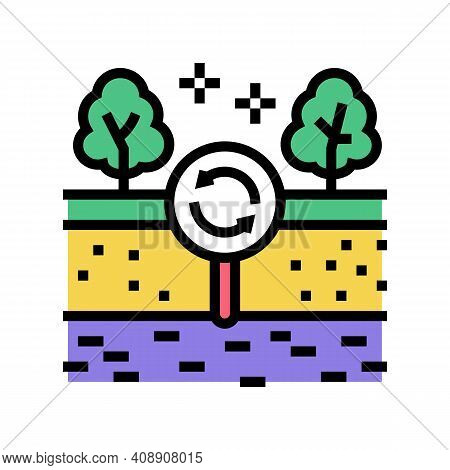 Edaphotop Ecosystem Color Icon Vector. Edaphotop Ecosystem Sign. Isolated Symbol Illustration