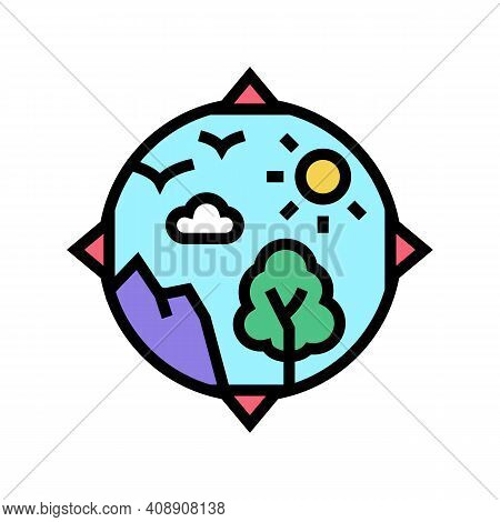 Biosphere Ecosystem Color Icon Vector. Biosphere Ecosystem Sign. Isolated Symbol Illustration