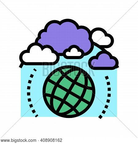 Atmosphere Ecosystem Color Icon Vector. Atmosphere Ecosystem Sign. Isolated Symbol Illustration