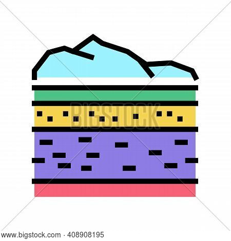Lithosphere Ecosystem Color Icon Vector. Lithosphere Ecosystem Sign. Isolated Symbol Illustration