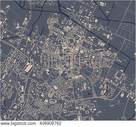 Map Of The City Of Latina, Lazio, Italy