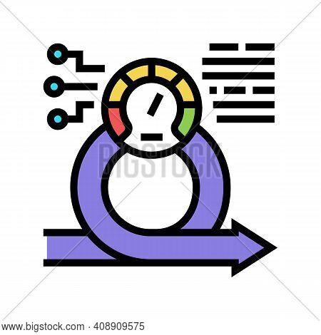 Speed Achievement Task Optimization Color Icon Vector. Speed Achievement Task Optimization Sign. Iso