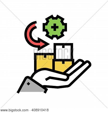 Receive Goods And Services Color Icon Vector. Receive Goods And Services Sign. Isolated Symbol Illus