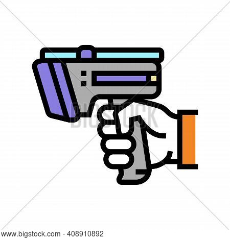 Laser Gun For Scan Rfid Color Icon Vector. Laser Gun For Scan Rfid Sign. Isolated Symbol Illustratio