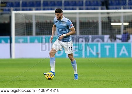 Milano, Italy. 14th February 2021 . Wesley Hoedt Of Ss Lazio   During The Serie A Match Between Fc I