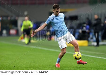 Milano, Italy. 14th February 2021 . Patric Of Ss Lazio   During The Serie A Match Between Fc Interna