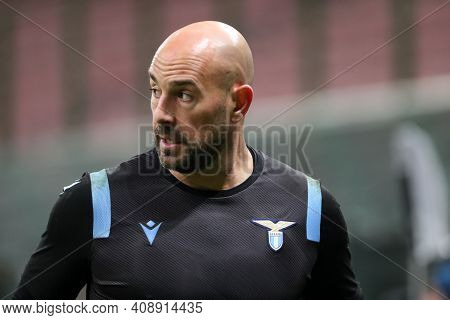 Milano, Italy. 14th February 2021 . Pepe Reina Of Ss Lazio   During The Serie A Match Between Fc Int