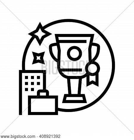 Career Growth Benefits Line Icon Vector. Career Growth Benefits Sign. Isolated Contour Symbol Black